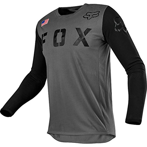Central Skate Shoes - Fox Racing 2018 Youth 180 San Diego Special Edition MX Offroad Motorcycle ATV Jersey Gray/Black-LARGE