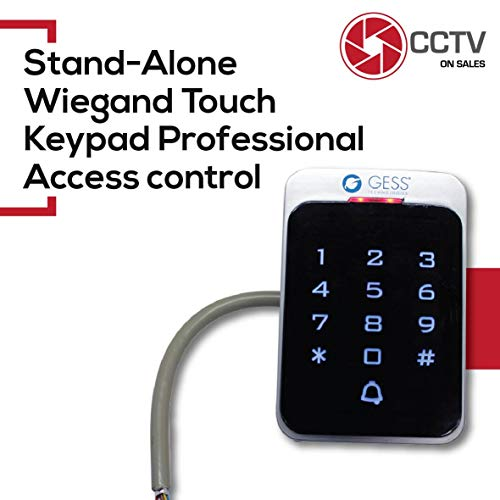 Standalone Access Control Professional Keypad+RFID Reader 125KHz Wiegand 26 Illuminated Metal Case Indoor/Outdoor Weather-Resistant IP68 (Standalone Touch Keypad+RFID Reader Wiegand26 IP65)