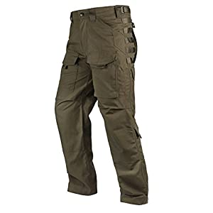 FREE SOLDIER Outdoor Men Teflon Scratch-resistant Pants Four Seasons Hiking Climbing Tactical Trousers (Dark Green, Large)