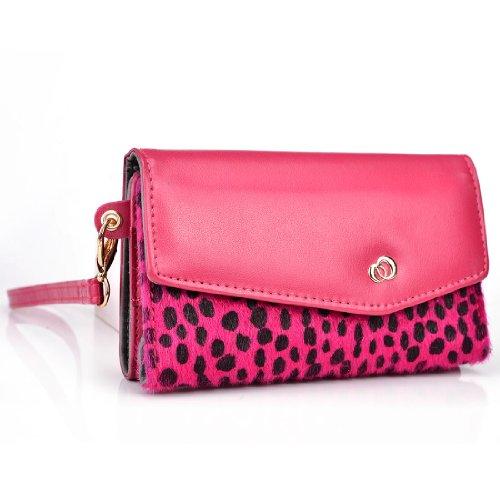 Neon Pink Dalmation Blend Women's Wristlet Wallet for Alc...
