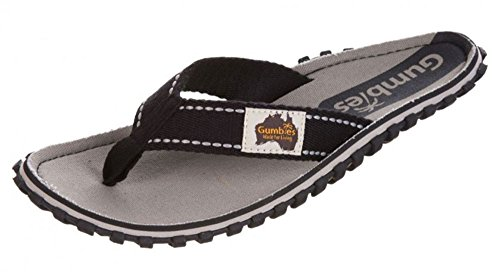 Gumbies Islander Unisex Canvas Flip Flops Manly Red Gravel