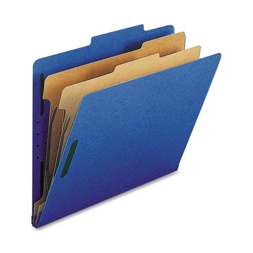 Wholesale CASE of 10 - Nature Saver 2-Dvdr Letter Classification Folders-Classification Folders,w/ Fstnrs,2 Dvdrs,Letter,10/BX,DBE