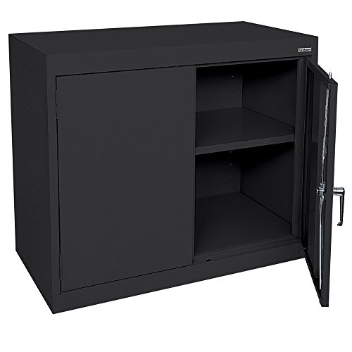 Sandusky Lee EA11361830-09 Elite Series Desk Height Storage Cabinet, 2 Shelves, 36