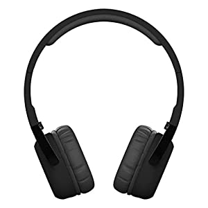 Coohole New Bee Super Bass Wireless On Ear Bluetooth Headphones with Mic, Audio and Wired Mode (Black)