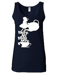 Disney Alice in Wonderland Tea All Mad Here White Women Vest Tank Top