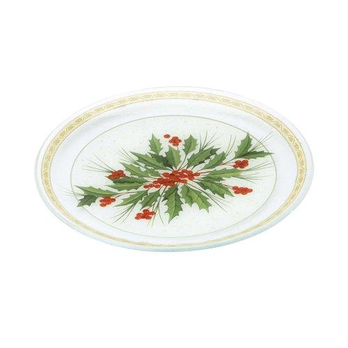 - Gorham Festive Holly 14 inch Round Holiday Platter