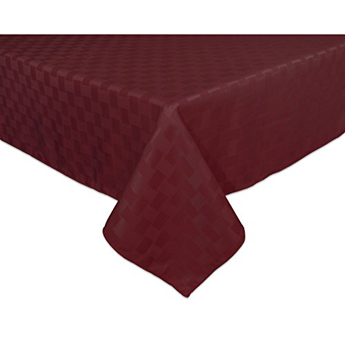 Bardwil Reflections Spill Proof Oblong / Rectangle Tablecloth, 60 Inch X  120 Inch, Merlot