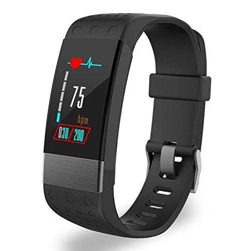 YoYoFit Rock Heart Rate Monitor, Waterproof Fitness Tracker with Blood Pressure Sensor, Wearable Fitness Watch for Men Women (Monitor Rate Pulse)