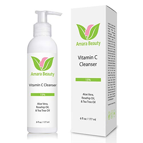 Facial Cleanser with 15% Vitamin C, Aloe Vera, Rosehip Oil & Tea Tree Oil, 6 fl. oz.