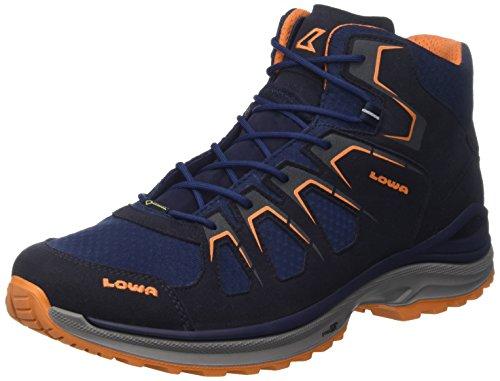 Lowa Herren Innox Evo GTX QC Trekking-& Wanderstiefel Blau (Navy/Orange)