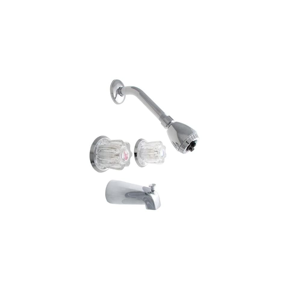 LDR 950 60105CP Double Handle Tub and Shower Faucet, Chrome