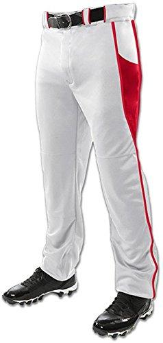 Champro Triple Crown Open Bottom野球パンツW /挿入 B01N9S7QX8 4L|ホワイト/スカーレット ホワイト/スカーレット 4L