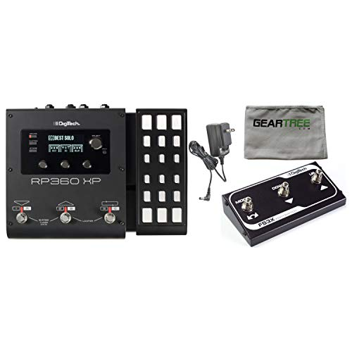 Built In Expression Pedal - Digitech RP360XP Guitar Multi Effects USB Pedal (with Expression Pedal) w/Power