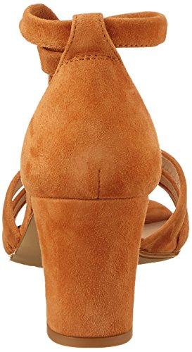 cuero Femme ks Ouvert Marron Bout Sandales Malca Unisa X8q0n1pvw