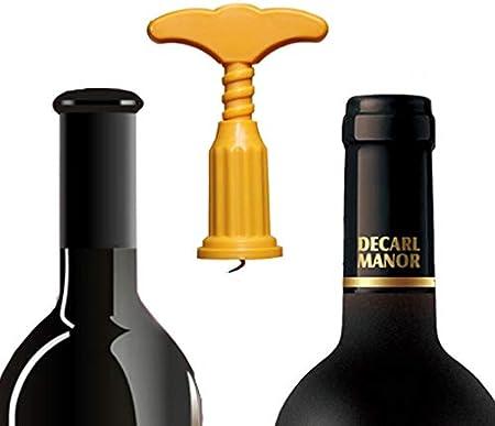 rongweiwang Rojo Vino abridor Manejar la presión Sacacorchos plástico de Cocina Barra del Partido Rojo Vino removedor del Tirador del Corcho removedor