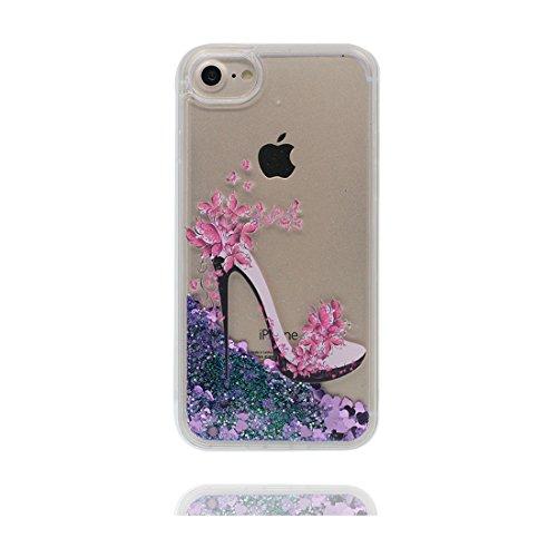 """iPhone 6 Coque, [Bling Bling Glitter ] iPhone 6s étui Cover (4.7 pouces), Fluide Liquide Sparkles Sables- talon hauts, iPhone 6 Case (4.7""""), Shell anti- chocs & Bouchon anti-poussière"""