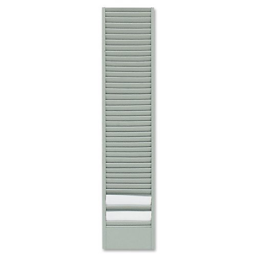 (Buddy Products 40 Pocket Badge Card Rack, Steel, Horizontal Orientation, 0.75 x 18.5 x 4 Inches, Gray)