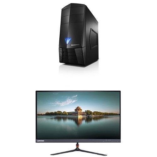 Bundle: Lenovo Erazer X315 Gaming Desktop (AMD A4 , 8 GB RAM, 1TB HDD + 128 GB SSD, AMD Radeon R9, Windows 10) 90AY000VUS + Lenovo 23-Inch FHD LED-Lit 16:9 Widescreen Monitor (65C8KCC1US)
