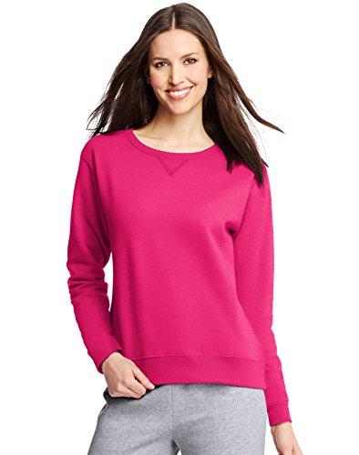 Hanes Women S V Notch Pullover Fleece Sweatshirt Sizzling