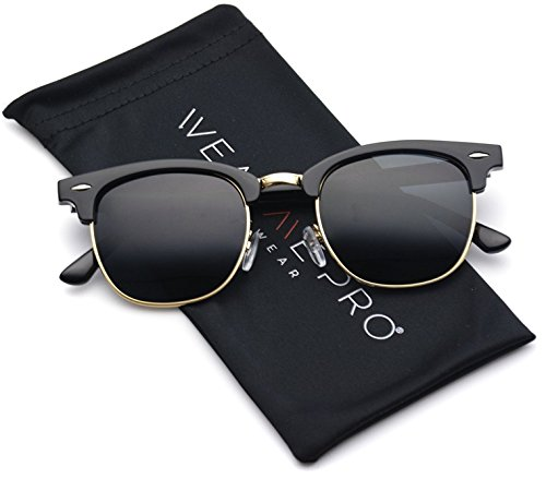 WearMe Pro – Classic Half Frame Polarized Semi-Rimless Rimmed Sunglasses