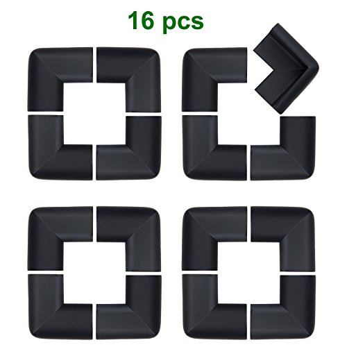 MySit Corner Guards Protectors ( 16 PCS, Black ) Foam Cushion Thick Baby  Safety Table