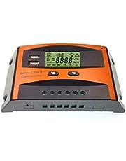 JZK Intelligent zonnepaneel, laadregelaar, 30 A, 12 V/24 V, met lcd-display en USB-aansluiting, overstroombeveiliging, voor zonnepaneel, batterijlamp, led-verlichting