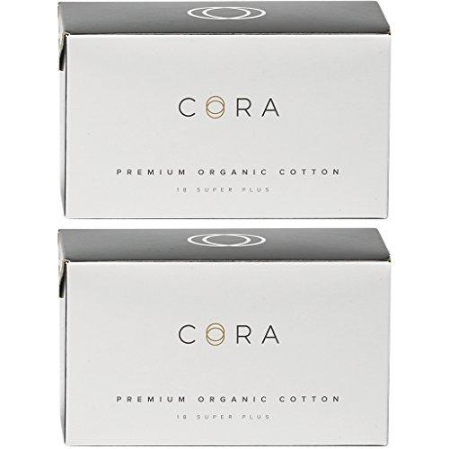 Cora Organic Cotton NON-APPLICATOR Tampons (36 Count; Super Plus APPLICATOR-FREE, (Certified Organic Tampons Non Applicator)
