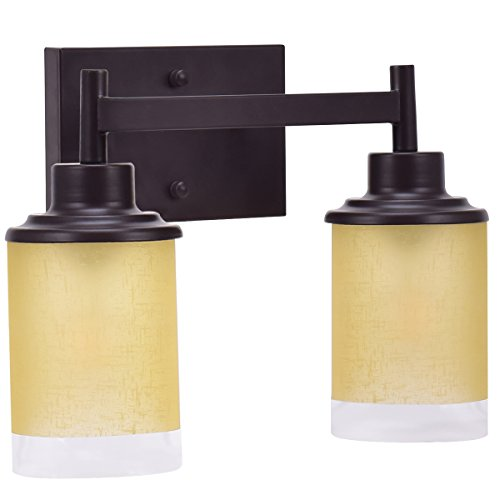 Tangkula Bathroom Vanity Lamp Wall Mounted Vanity Lighting Fixture Wall Sconce (Antique Bronze, (Bronze Spring Lighting)