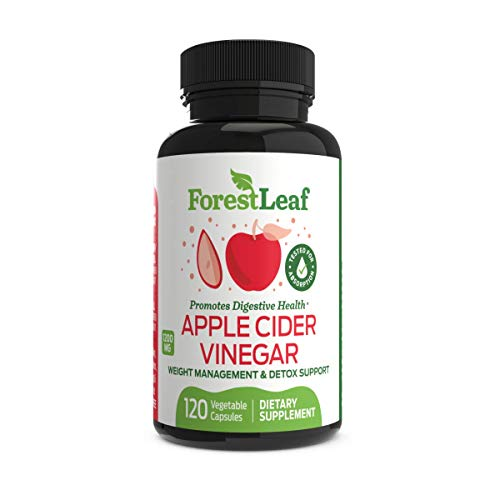 Organic Apple Cider Vinegar Pills - 1200mg, with Cayenne Pepper Powder - All Natural Digestion, Gut and Metabolism Health Supplement for Detoxes and Cleanses - 120 Vegetable Capsules - ForestLeaf (Get Rid Of Diabetes In 30 Days)