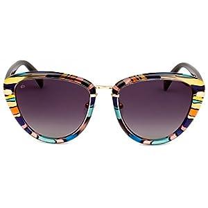 "PRIVÉ REVAUX ICON Collection ""The Monet"" Handcrafted Designer Polarized Cat-Eye Sunglasses (Purple Tortoise)"
