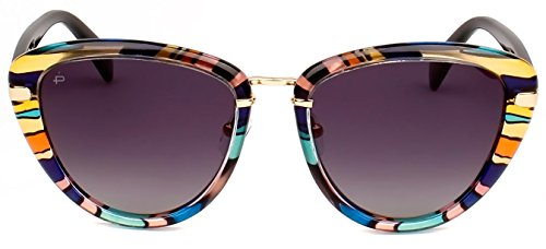 "PRIVÉ REVAUX ICON Collection ""The Monet"" Handcrafted Designer Polarized Cat-Eye Sunglasses (Purple - Cat Designer Eye Sunglasses"