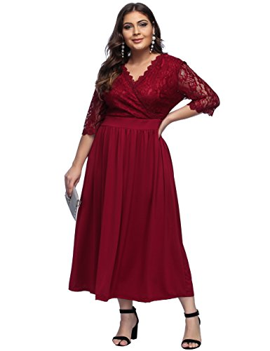 Women's Maroon Lace Mother of The Bride Bridal Empire (Bridal Mother Of The Bride)