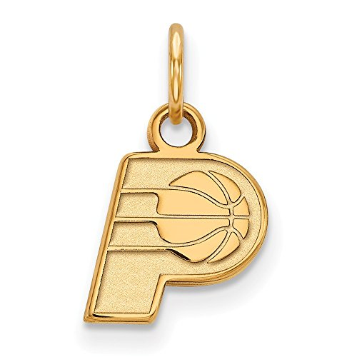 Roy Rose Jewelry 14K Yellow Gold NBA LogoArt Indiana Pacers X-small Pendant / Charm by Roy Rose Jewelry