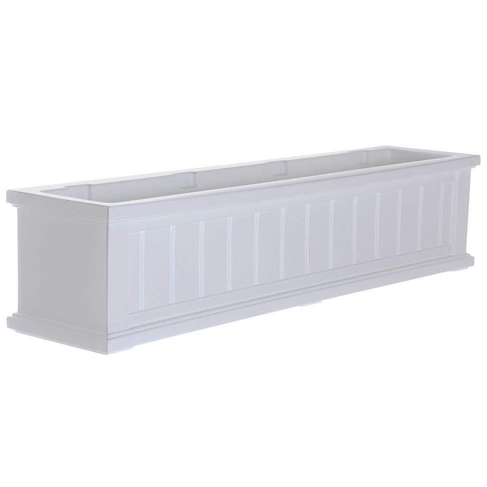 K&A Company 4 Foot Cape Cod Window Box, 48'' x 11'' x 10.8'' x 28 lbs, White