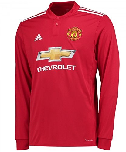 Classic Manchester United Shirts - adidas Men's Soccer Manchester United FC Home Jersey Long Sleeve (L) Red