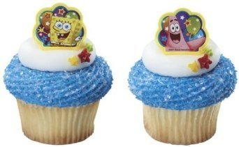 24 ct - Spongebob Squarepants and Patrick Birthday Party Cupcake Rings by Decopac