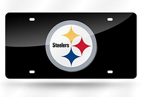 Rico Industries NFL Pittsburgh Steelers Laser Inlaid Metal License Plate Tag by Rico Industries