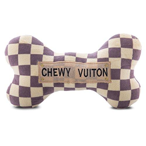 Haute Diggity Dog HDD-008-XL Checker Chewy Vuitton Bone, X-Large