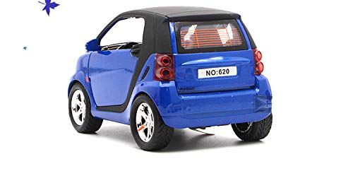 Generic 13cm for MercedesBenz Smart Alloy Car Toy Model Light Music Pull Back Open Door Function Toy Car Cute Boy LED Toy Vehicles 1 32 bluee