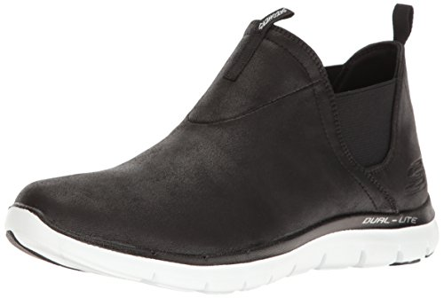 Skechers Damen 11729 / Ccbk Flex Beroep-sweet Spot Houtskool / Zwarte Low-top Zwart / Wit