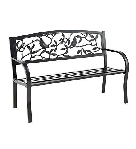 Plow & Heart Metal Garden Bench - 50 L x 24 W x 34 H (Cardinals)