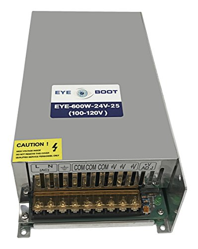 24vac Power Cctv Supply Box - Eyeboot 24V 25A DC Universal Regulated Switching Power Supply 600w for CCTV, Radio, Computer Project