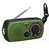 Emergency Radio with Solar and Crank cha...