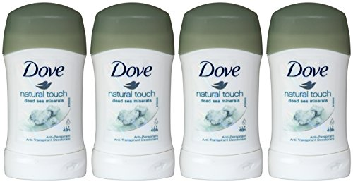 Dove Natural Touch with Dead Sea Minerals, Antiperspirant & Deodorant Stick, 1.4 Oz/40 Ml (Pack of 4)