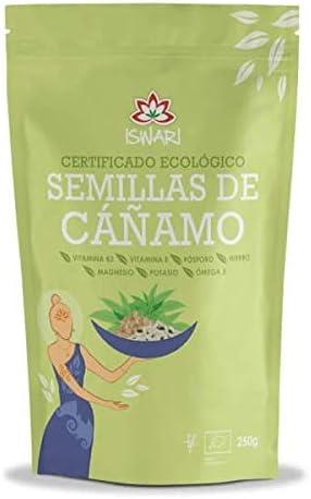 Iswari Semillas Cañamo Sin Cascara 250Gr; Bio 1 Unidad 200 g