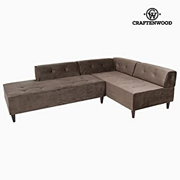QTIMBER Chaiselongue grau CEOS by Craftenwood 32 x 184 x 128 cm ...