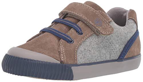 Stride Rite Boys' SR Parker Sneaker, Brown, 4.5 W US Toddler (Baby Shoes Stride Rite Boys)
