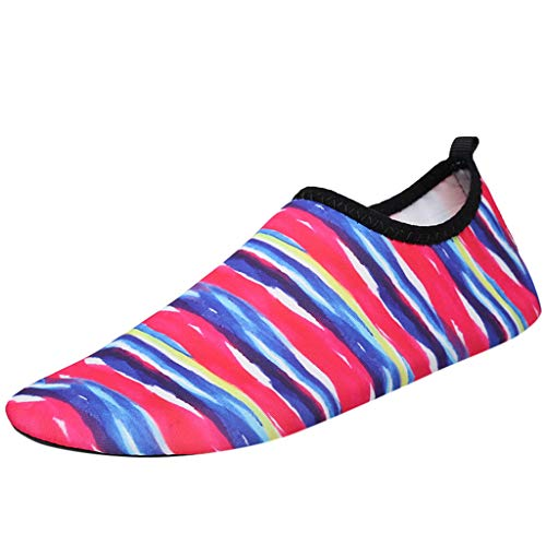 LUCAMORE Printed Water Shoes Barefoot Quick-Dry Aqua Socks for Swim Shoes Yoga Exercise Surfing Beach Shoes for Women Men ()