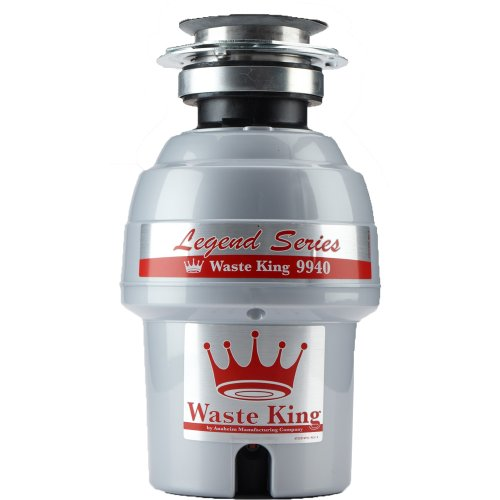Waste King Legend Series 3/4 HP Continuous Feed Garbage Disposal with Power Cord - (9940) (3 Bolt Disposer)