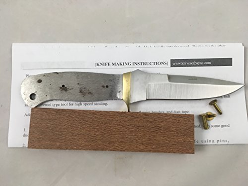 8 inch DOUBLE EDGE knife kit / DIY KNIFE KIT / PAYNE BROS (LEOPARD WOOD)